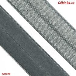 Lemovací guma půlená 16 - tmavší šedá, šíře 19 mm, 1 m
