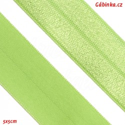 Lemovací guma půlená 4 - světlounce zelená, šíře 19 mm, 1 m