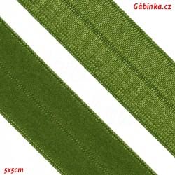 Lemovací guma půlená 3 - trávově zelená, šíře 19 mm, 1 m