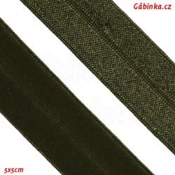 Lemovací guma půlená 1 - tmavě zelená, šíře 19 mm, 1 m