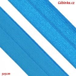 Lemovací guma půlená 7 - střední tyrkys, šíře 19 mm, 1 m