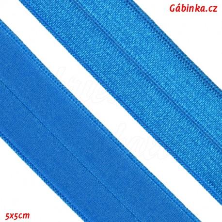 Lemovací guma půlená - 19 mm, modrá, 5x5 cm