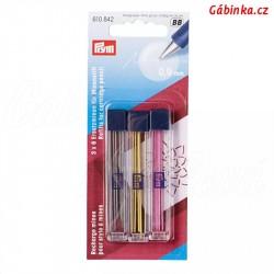 Náplň náhradní pro 610 848 a 610 850 šedá žlutá a růžová, 0,9 mm, 3x6 ks, PRYM 610 842