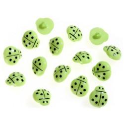 Dětský knoflík - Beruška zelená