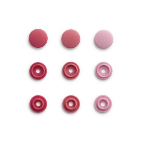 """Patentky """"Color snaps Mini"""" 9 mm PRYM LOVE 393 500, Růžová kombinace, obr. 1"""