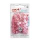 """Patentky """"Color snaps Mini"""" 9 mm PRYM LOVE 393 500, Růžová kombinace, obr. 2"""