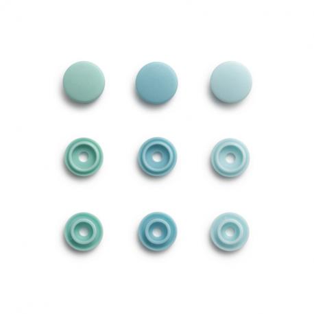 """Patentky """"Color snaps Mini"""" 9 mm PRYM LOVE 393 502, Mentolová kombinace, obr. 1"""