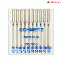 Jehly Schmetz - UNIVERSAL 130/705 H, MIX 70/10-100/16, 10 ks