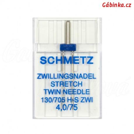 Jehla Schmetz - STRETCH TWIN 130/705 H-S ZWI, 4,0/75, 1 ks