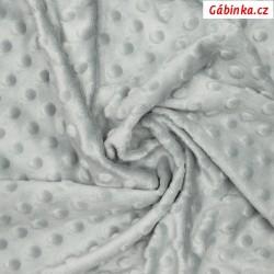 Plyš MINKY - puntíky sv. šedá HIGH-RISE, gramáž 300-320 g/m2, šíře 160 cm, 10 cm