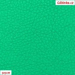 Koženka, jasně zelená SOFT LESK 103, šíře 140 cm, 10 cm - 5x5cm