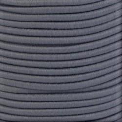 Pruženka, guma - kulatá, tmavě šedá 8577, průměr 3 mm, 1 m