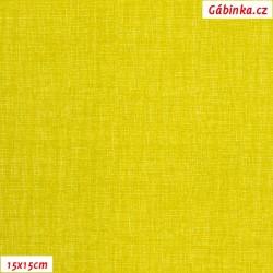 Plátno - Lněná půda zelenožlutá, Atest 1, gr.165, šíře 150 cm, 10 cm