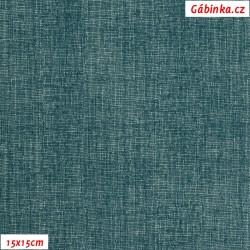Plátno - Lněná půda petrolejová, Atest 1, gr.165, šíře 150 cm, 10 cm