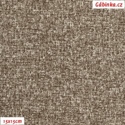 Plátno - Melír hnědý, Atest 1, gr.165, šíře 150 cm, 10 cm