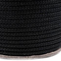 Šňůra oděvní PES 4 mm, černá, 1 m