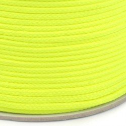 Šňůra oděvní PES 4 mm, žlutá, 1 m