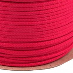Šňůra oděvní PES 4 mm, malinová, 1 m