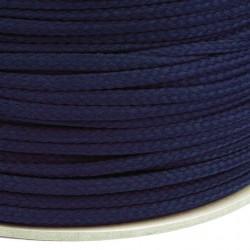 Šňůra oděvní PES 4 mm, tmavě modrá, 1 m