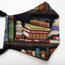 Rouška třívrstvá - USA plátno - Knihovna