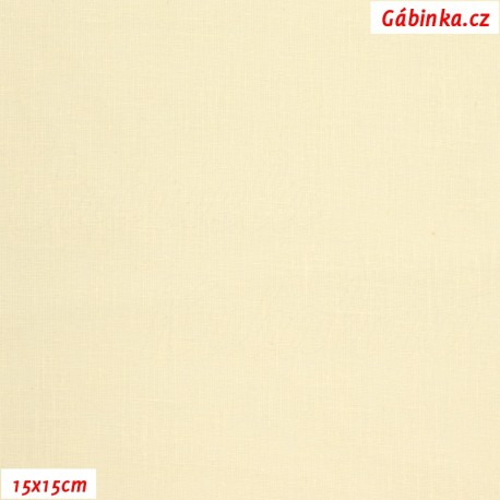 Plátno - světle žluté, 145 g/m2, 15x15 cm