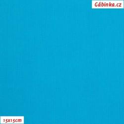 Plátno - tyrkysové, 145 g/m2, šíře 150 cm, 10 cm, ATEST 1