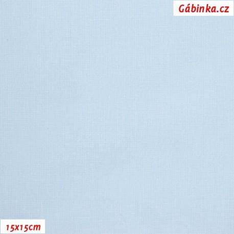 Plátno - světlounce modré, 145 g/m2, 15x15 cm