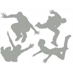 Reflexní nažehlovací potisk - Parkour (4 ks)