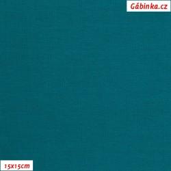 Úplet jednolícní petrolejový, 15x15 cm