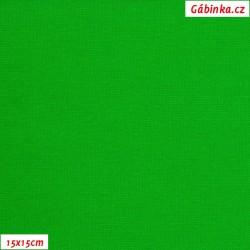 Náplet hladký 1:1 tunel, A - ostře zelený 1061, šíře 150 cm, 10 cm, ATEST 1