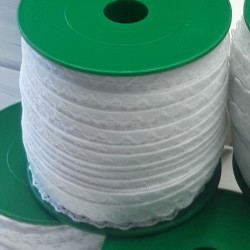 Pruženka, guma - ozdobná prádlová bílá, šíře 10 mm, návin 25 m