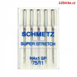 Jehly Schmetz - SUPER STRETCH HAx1 SP, 75/11, 5 ks