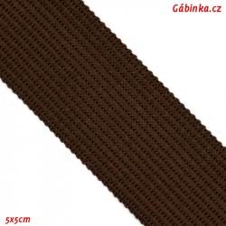 Lemovací proužek PES, čokoládově hnědý, šíře 2,5cm, 1m