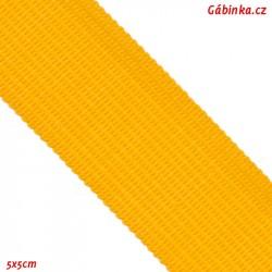 Lemovací proužek PES, žlutý, šíře 2,5cm, 1m