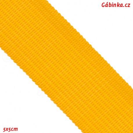 Lemovací proužek PES, žlutý, 5x5 cm