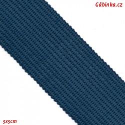Lemovací proužek PES, kovově modrý, šíře 2,5cm, 1m
