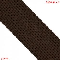 Lemovací proužek PES, tmavě hnědý, šíře 2,5cm, 1m