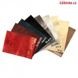 Vzorník koženek METALLIC L1 - 9 barev, 1 ks