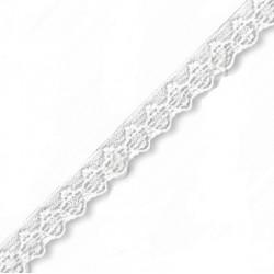 Pruženka, guma - ozdobná prádlová bílá, šíře 10 mm, 1 m