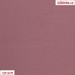 Teplákovina s EL 90/10, B - Tmavě starorůžová 1193, šíře 180 cm, 10 cm, ATEST 1
