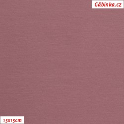 Teplákovina s EL, B - Tmavě starorůžová 1193, ATEST 1, 15x15 cm