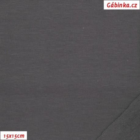Teplákovina s EL, B - Popelavě šedá 2183, 15x15 cm