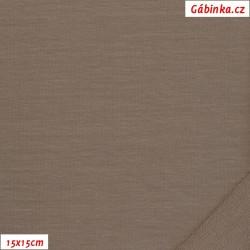 Teplákovina s EL 90/10, B - Tmavě béžová 2053, šíře 180 cm, 10 cm, ATEST 1