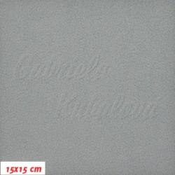 Microfleece antipilling - FLEECE129, Světle šedý, 15x15 cm