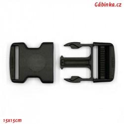 Trojzubec plastový černý - 4 cm, 1 ks