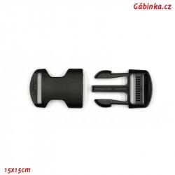 Trojzubec plastový černý - 2,5 cm, 1 ks