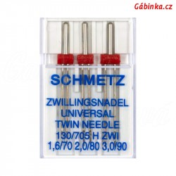 Jehly Schmetz - UNIVERSAL TWIN MIX 130/705 H ZWI, 1,6 + 2,0 + 3,0 mm, 3 ks