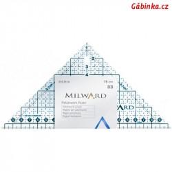 Pravítko na patchwork MILWARD, trojúhelník 15x15x21 cm