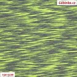 Úplet tenčí PES-EL - Zelenošedá mlha, šíře 150 cm, 10 cm