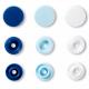 """Patentky """"Color snaps"""" 12,4 mm PRYM LOVE 393009, Bílá, dětská modrá, královsky modrá, 30 ks"""